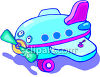 Child's Toy Plane clipart