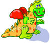 Child's Toy Dragon clipart