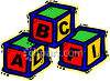 Childs Alphabet Blocks clipart
