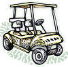 Riding Golf Cart clipart