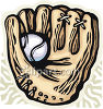 Baseball Mitt and Ball clipart