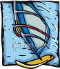 Windsurfer Watercraft clipart