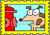 Dog Standing by a Fire Hydrant, Ready to Pee on It clipart