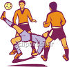 Men Playing Football or Soccer Clip Art clipart