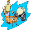 Contracter Mixing and Pouring Cement or Concrete clipart