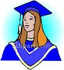 Graduate Wearing a Cap and Gown Clipart clipart