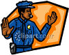 Policeman Directing Traffic Clip Art clipart