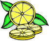 Illustrated Lemon Cut Into Slices clipart