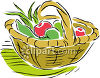 Rustic Basket Full of Apples and Some Corn clipart