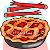 Rhubarb Pie with Fresh Rhubarb clipart
