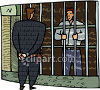 Lawyer and Incarcerated Client clipart