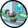 Frightened Patient Waiting for the Dentist clipart