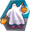 Trick or Treating Ghost clipart