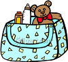 Diaper Bag Full of Necessities clipart