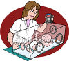 baby in an incubator image