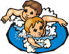 Two Boys Swimming clipart