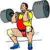 Man Powerlifting a Huge Barbell clipart