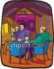 Friends Having a Beer in a Tavern clipart