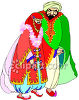 Middle Eastern Bride and Groom clipart