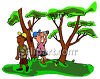 Two Men Bird Watching Clip Art clipart
