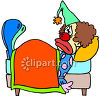 Clown Sick in Bed clipart