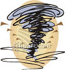 Cartoon ornado  clipart