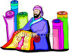 Persian Rug Salesman clipart