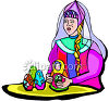 Russian Doll Maker-Nesting Dolls clipart