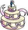 A Beautiful Wedding Cake clipart