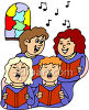 A Female Choir Singing clipart