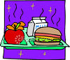 A School Hot Lunch clipart