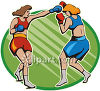 Female Boxers Fighting clipart