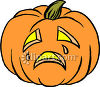 A Crying Jack O Lantern clipart