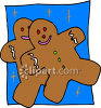 Couple Of Gingerbread Man Cookies clipart