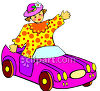 A Doll In A Toy Car clipart