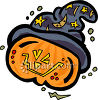 A Jack O Lantern Wearing A Witch Hat clipart
