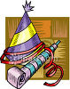 A Party Hat And Noisemaker clipart