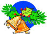 Christmas Bells With Holly clipart