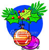 Christmas Ball Ornaments With Holly clipart