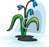 Small Blue Flowers clipart