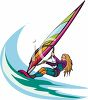 Woman Windsurfer clipart