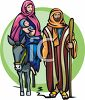 Joseph, Mary and the Baby Jesus clipart