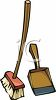 Broom and Dust Pan clipart