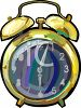 Old Fashioned Alarm Clock clipart