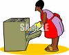 African American Woman Making Cookies clipart