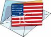 American Flag Note Card clipart
