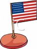 U.S. Flag on a Desktop Stand clipart