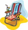Beach Chair and Cocktail clipart