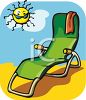 Beach Chair on a Sunny Day clipart