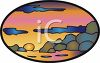 Ocean Sunset clipart
